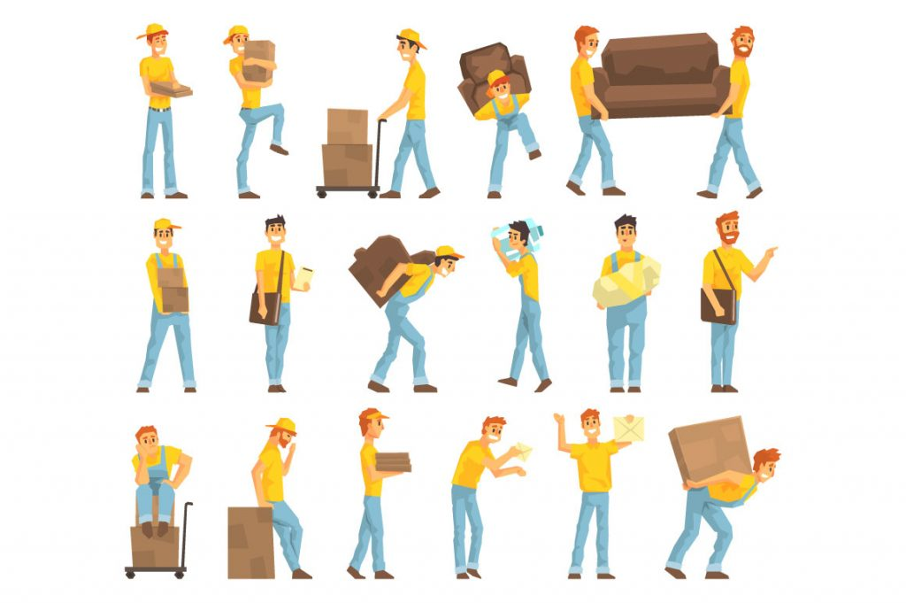 Man Moving Boxes